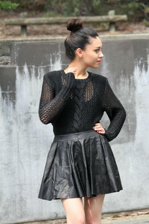 Leather Skirts the Wardrobe Staple (2)