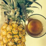 DIY exfoliant – Put the honey in the pineapple and shake it all up