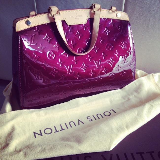 Louis Vuitton Brea Vernis Handbag