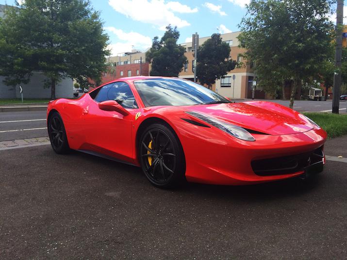Red Ferrari 458