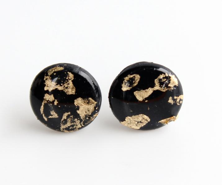 earrings-black-foild-polymerclay-emiliarossi