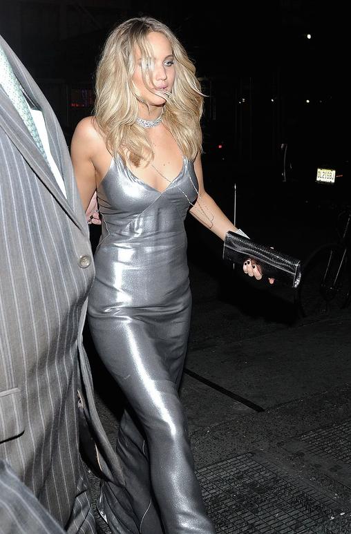 Jennifer Lawrence in Silver Met Gala