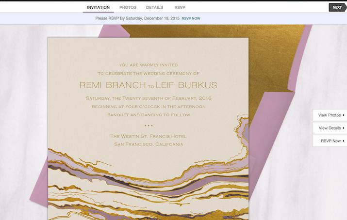 greenvelope emilia rossi blog paperless wedding invites - Email Wedding Invitations