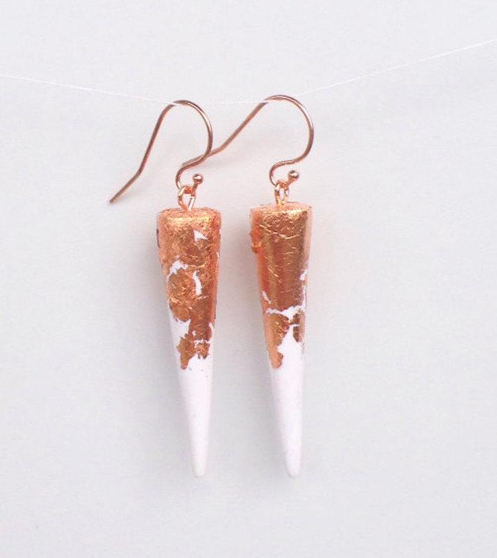Jewellery-Spike-Earrings-Rosegold