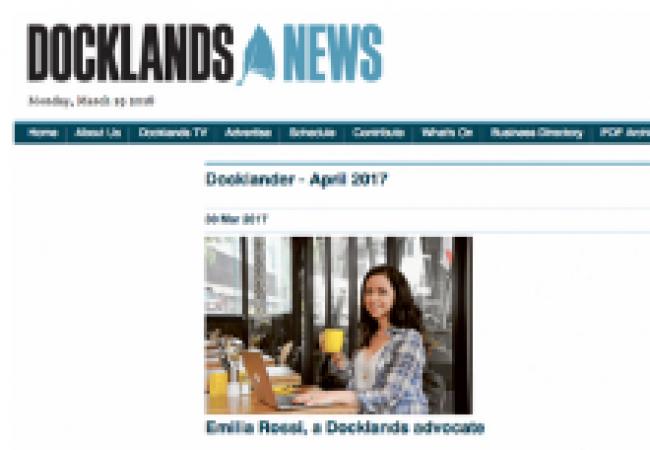 Docklands News Emilia Rossi